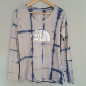 North Face Logo Long Sleeve Shirt Hand Dyed